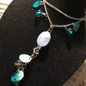 Hand painted Moonstone necklace